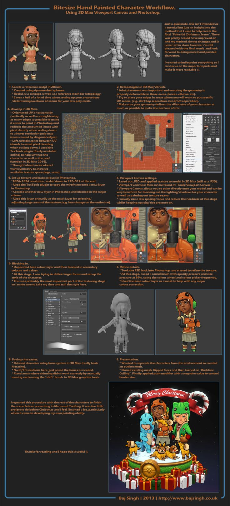 Bitesize Hand Pained Character Workflow