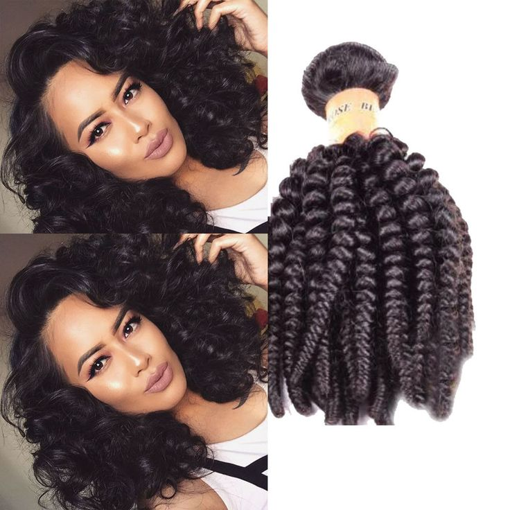 "16"" 300g Brazilian Real Human Hair Extension Black Kinky Curly Hair Weft #Unbranded #BrazilianKinkyCurly"