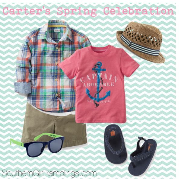 """""""Carter's Spring Celebration for Baby Boys"""" by southerngirlramblings on Polyvore #CartersSpringStyle"""