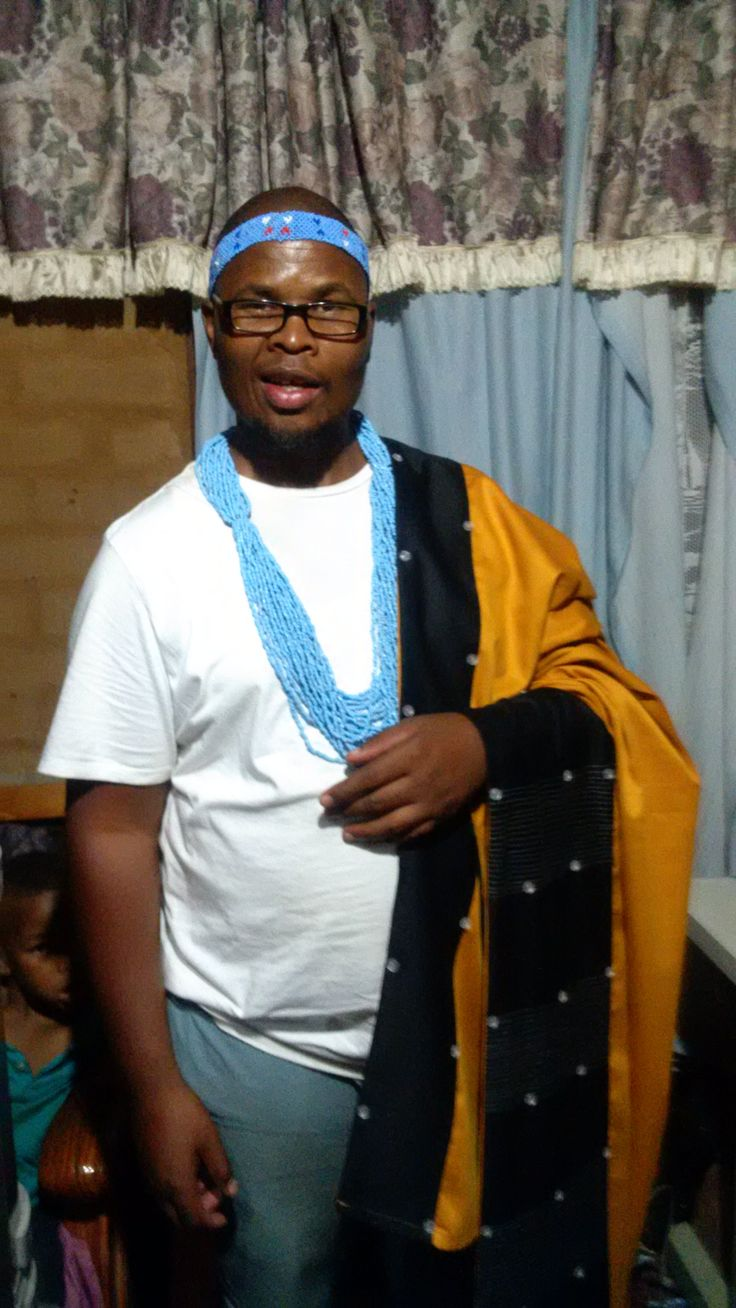 Fitting my Xhosa attire,before the special day.Amahlabiso.
