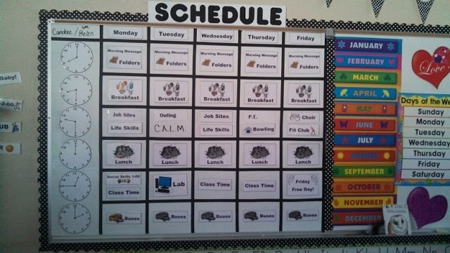 Autism - Classroom Schedule  Great blog for teaching ideas along with this!
