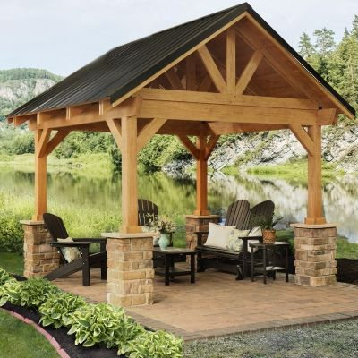 best 25 screened gazebo ideas on pinterest. Black Bedroom Furniture Sets. Home Design Ideas