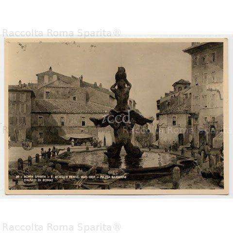 Piazza Barberini Anno: 1885 'ca Autore: Acquerello di Ettore Roesler Franz