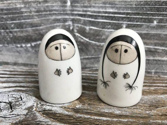 Vintage Finland Salt  Pepper Shakers Eskimo by DianesStuffForYou