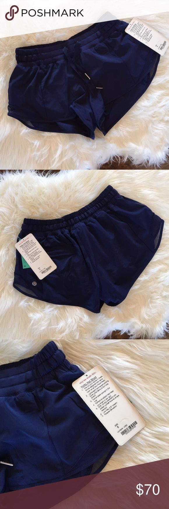 Lululemon Hotty Hot Short Lululemon Hotty Hot Short. Size 6, new with tags!! Hero Blue. No trades. If you like something, please use the offer button, I may not respond to offers in comments. I play by Posh's rules. Bundle for UP TO a 25% discount as well as saving on your shipping! Play nice and happy shopping! lululemon athletica Shorts