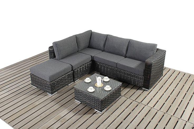 Rattan Garden Furniture Grey Cushions http://www.bonsoni/bonsoni-small-corner-sofa-colour-black