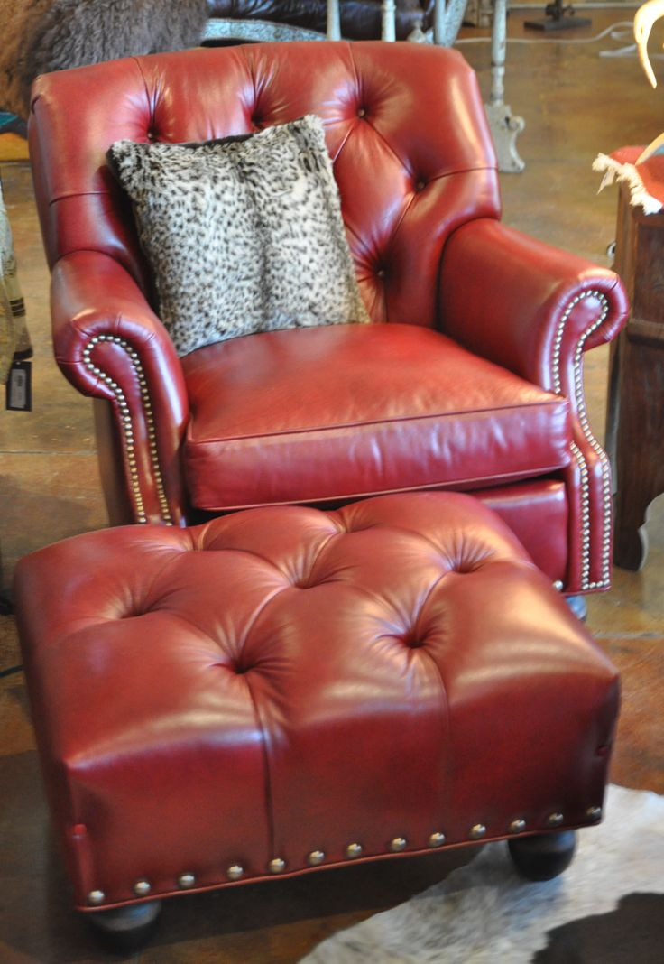red leather chair tufted back with tufted red leather ottoman httpwww