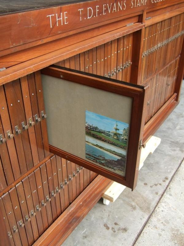 stamp / postcard collector's #storage cabinet - i would LOVE this to store artwork on paper