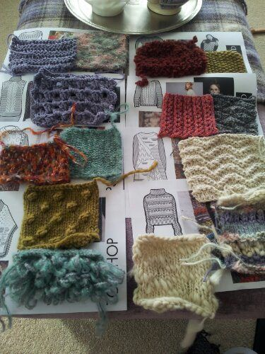 knitting swatches