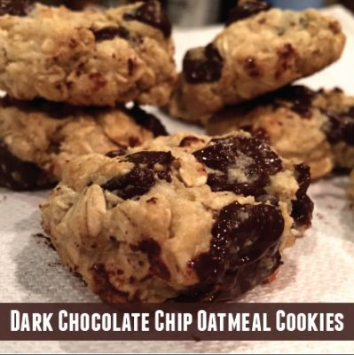 Chip Oatmeal Cookies | Recipe | Dark Chocolate Chips, Chocolate Chip ...