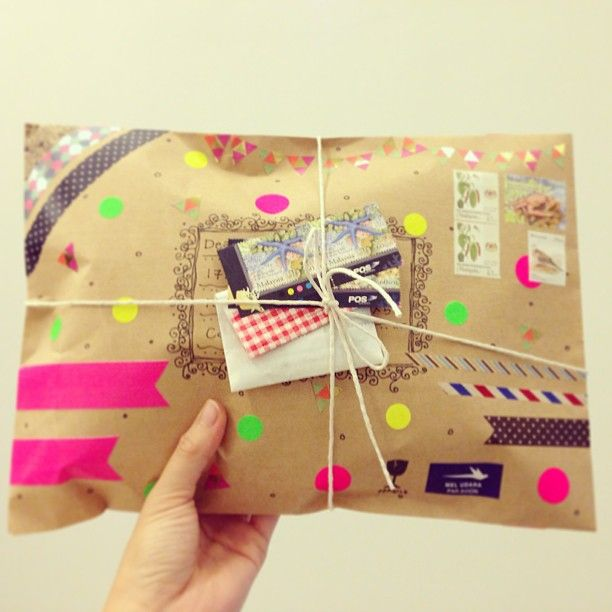 washi tape outgoing mail #snailmail #happymail