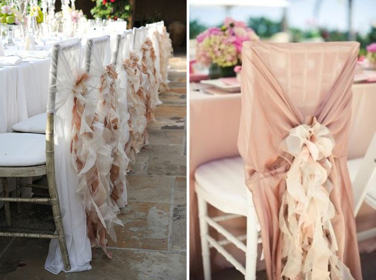 i love this idea, its different than traditional chair covers.