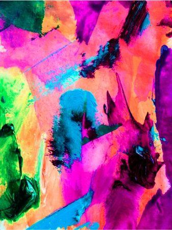 Under the bridge multicoloured canvas art - Image 3
