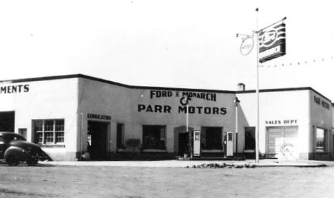 Parr Motors, originally located where the current Post Office is.