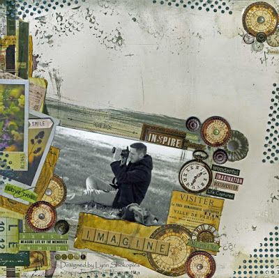 Imagine layout by Lynn Shokoples for BoBunny featuring the Beautiful Dreamer Collection.