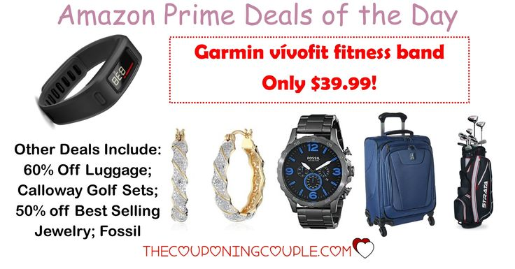 HOT AMAZON PRIME DEALS!! Get a Garmin Vivofit Fitness Band for ONLY $39.99! Plus other HOT deals!  Click the link below to get all of the details ► http://www.thecouponingcouple.com/amazon-prime-deals-of-the-day/ #Coupons #Couponing #CouponCommunity  Visit us at http://www.thecouponingcouple.com for more great posts!