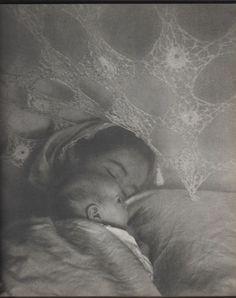 Tasha Tudor with one of her children.