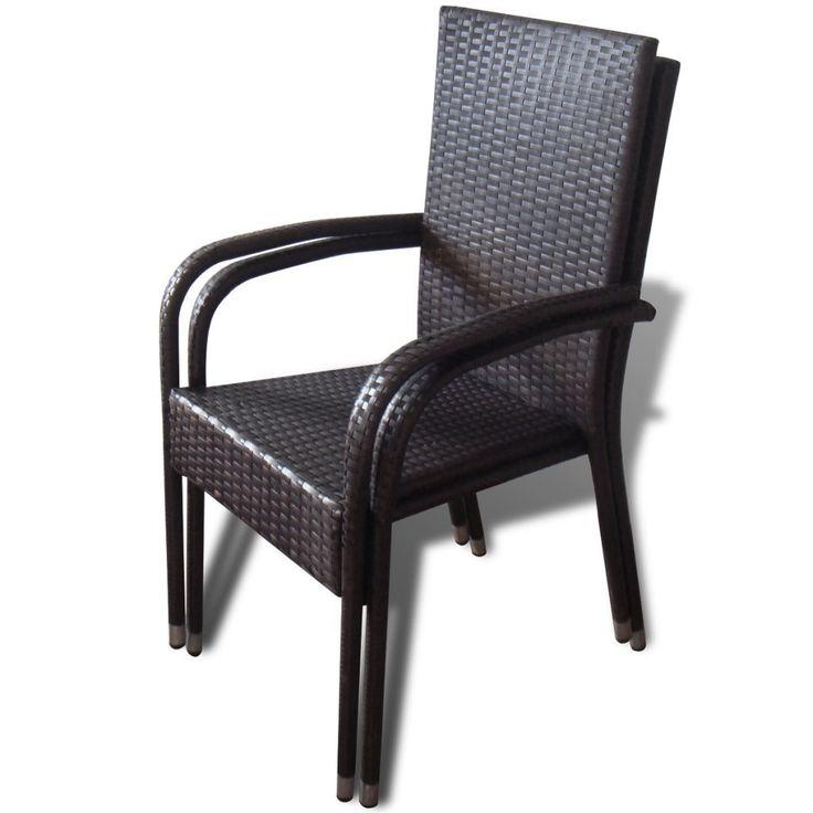 Yli tuhat ideaa Esszimmerstühle Rattan Pinterestissä Stühle - rattan gartenmobel braun