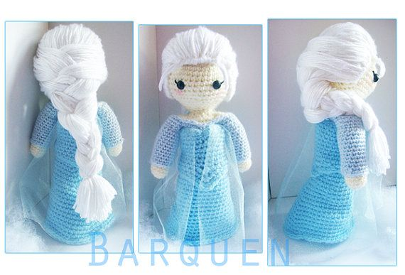 Crochet Elsa Doll Pattern : Crochet Doll - Frozen Inspired - Princess Elsa Inspired ...