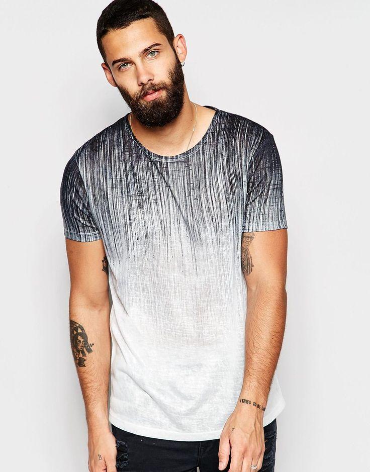 ASOS – T-Shirt in Leinenoptik mit kritzelig strukturiertem Print . . . . . der Blog für den Gentleman - www.thegentlemanclub.de/blog