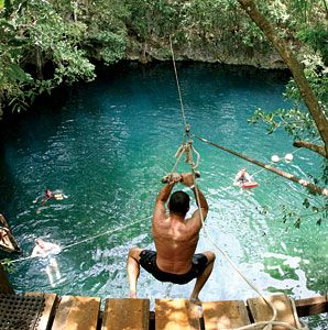 Cenote near Puerto Morelos, Mexico    Have to take a trip to this!