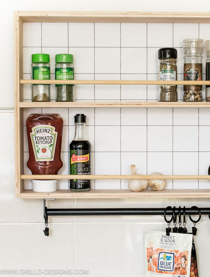 how to build a hanging spice rack and ryobi giveaway modern diy hanging spice rack grillo designs