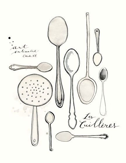 Les Cuilleres 8.5x11 Art culinaire Collection by evajuliet on Etsy,  something for my stundents to try to do. A collection of ordinary things.