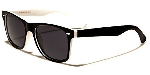 Polarised Two Tone Matt Wayfarer Sunglasses - Black Cat 3 Lenses Offering Full UV400 Protection - Available in 6 Colours - Complete with Cleaning Cloth & Waterproof Pouch - Ideal For Driving - Unisex (Black & White Frame / Black Smoked Polarised Lenses) Nero Eyewear http://www.amazon.co.uk/dp/B01B9CUA8Y/ref=cm_sw_r_pi_dp_p.D1wb0RE32R0