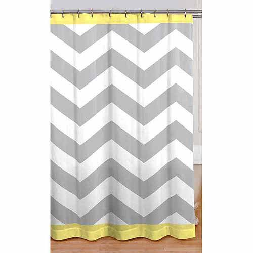 Mainstays Chevron Shower Curtain, Yellow