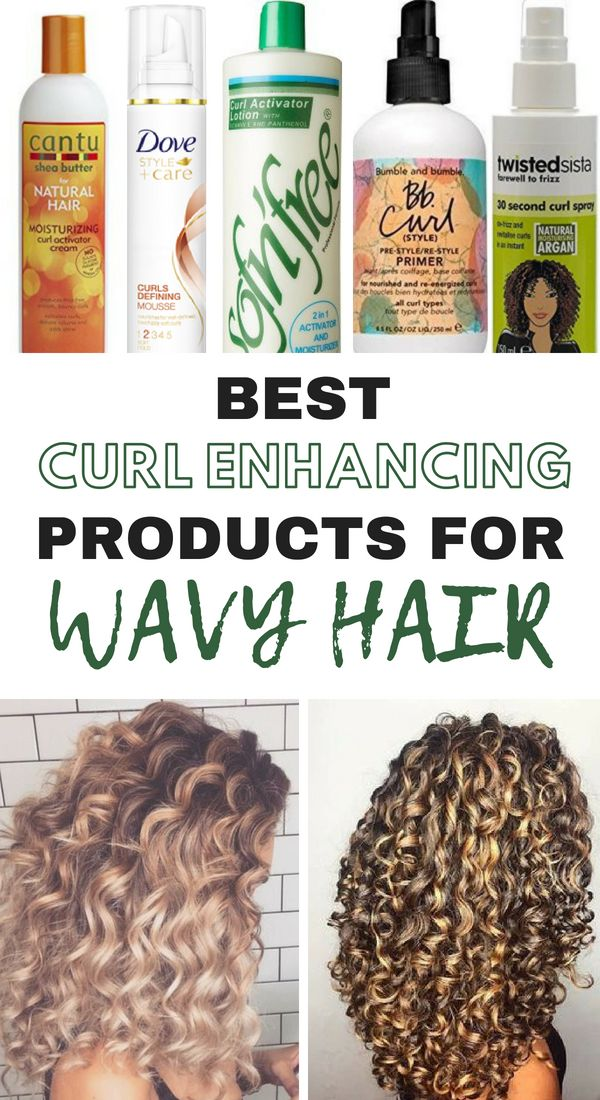 These are the best curl enhancing products for wavy hair that works for blondes, brunettes, red heads, and every color in-between! You'll love the results!