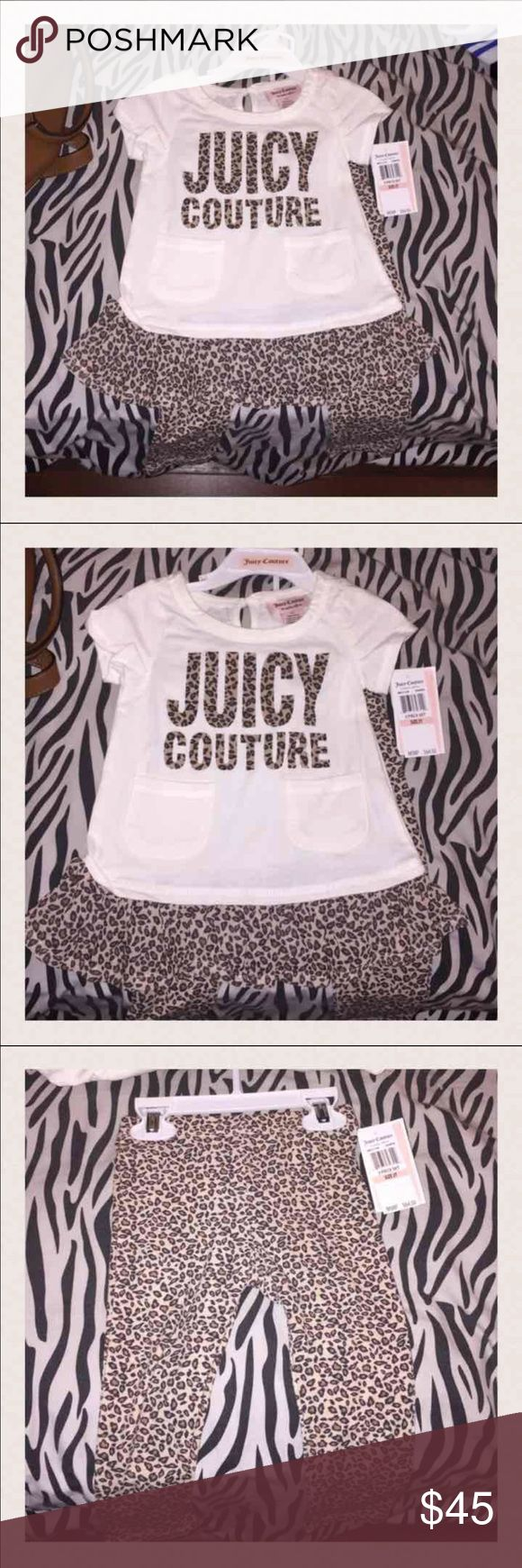 Juicy couture toddler outfit Brand new with tags juicy couture toddler cheetah outfit size 2T Juicy Couture Matching Sets