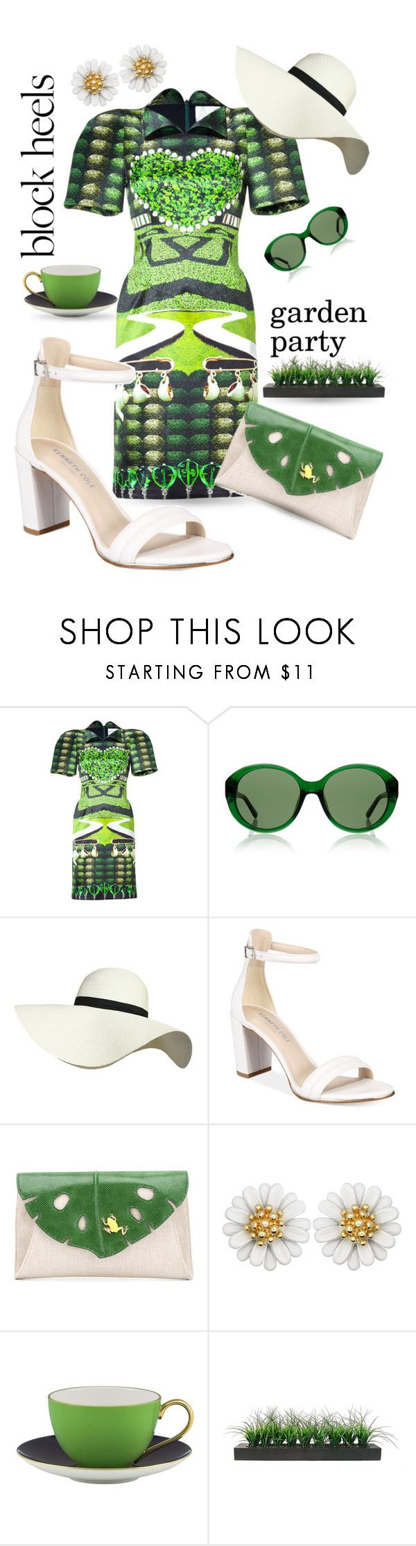 """""""Garden Party"""" by queenofsienna ❤ liked on Polyvore featuring Mary Katrantzou, The Row, Pilot, Kenneth Cole, Charlotte Olympia, Kate Spade and Vintage"""
