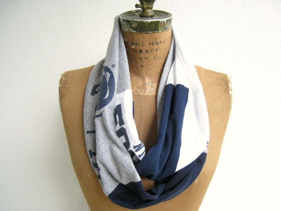Upcycled Recycled Penn State Football Infinity T Shirt by ohzie
