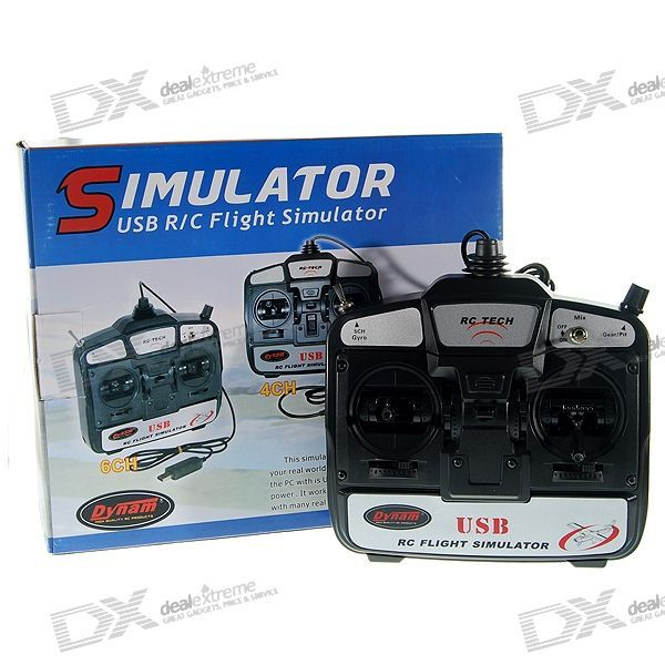 Dynam RC Tech 6-Channel USB R/C Flight Simulator with FMS Software Set (Mode-1). Minimum system requirements: - 100% Pentium III or AMD Athlon/64 compatible - processor with at least 800Mhz - 128MB RAM - 1GB free hard disc memory - CD-ROM drive - Open GL compatible graphic card with at least 64MB - 100% DirectX compatible sound card - Windows ME /2000/XP with DirectX version - 9.0b or highter - A free USB port and a trainer output on your transmitter -- Recommended system requirements…