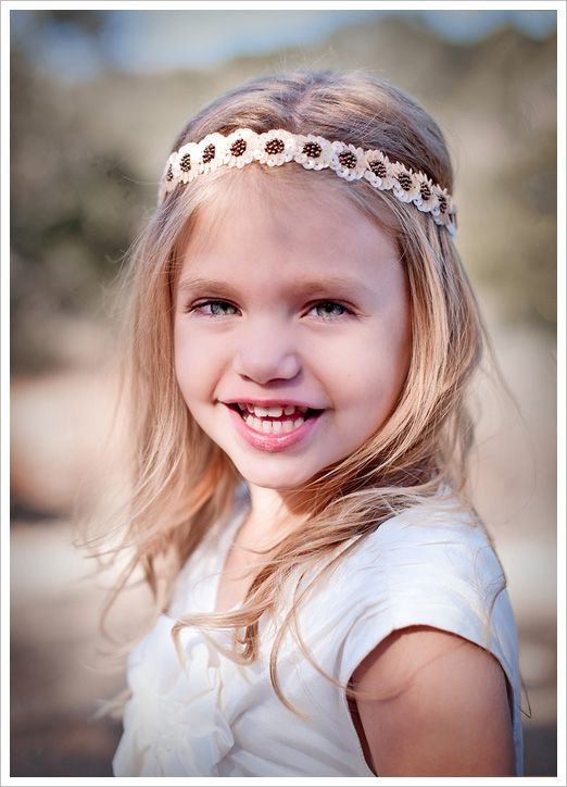 Another adorable headband for that stylish flower girl by Untamed Petals.