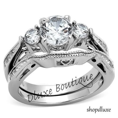 7 best Womens Stainless Steel Wedding Ring Sets images on Pinterest