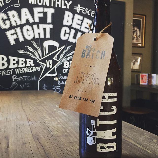 Inspired by the Elvis of Hawaii Don Ho and his song 'Tiny Coconut Bubbles' @batchbrewingcompany have created a wheat ale with a coconut twist. It will be one of the 4 beers competing in tonight's 4 Way Brawl for @sydneycraftbeerweek. Online ticketing is now closed but tix will be available on the door. #scbw15 #craftbeer #craftbrew #coconut #drinklocal #surryhills #sydney
