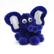 craftprojectideas.com -- Pom Pom Elephant
