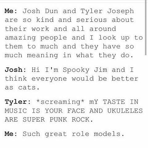 THEY ARE AMAZING ROLE MODELS! WHAT YOU TALKIN' 'BOUT? |-/