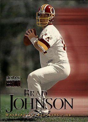 1999 SkyBox Premium Washington Redskins Football Card #25 Brad Johnson