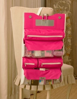 Bride Survival Kit! Great idea to use travel kit like this.  Bride could use it on the honeymoon.