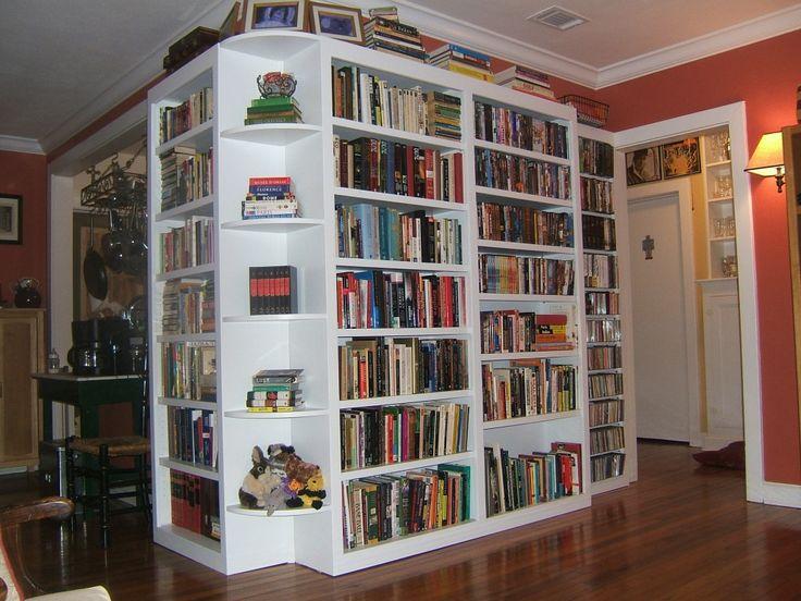 White Book Case Furniture Cool library design ideas in private ...