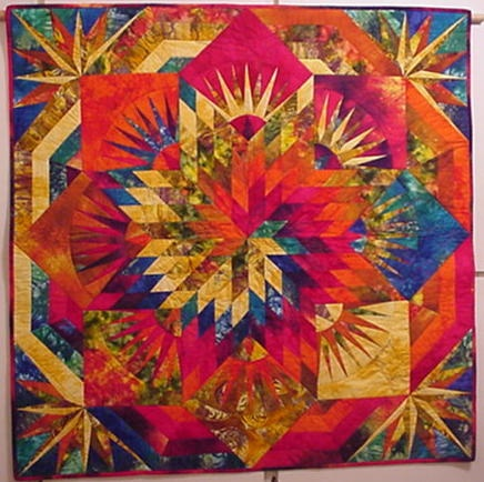 Spiral Fire......from 'Lone Star Quilts and Beyond' by Jan Krentz.
