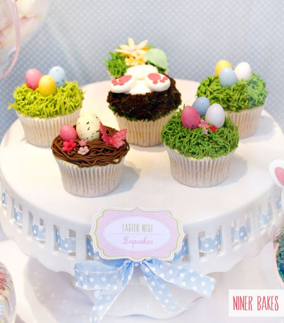 {Sweet Table} Easter Candy Bar + Bunny Cake Pops Tutorial - by niner bakes