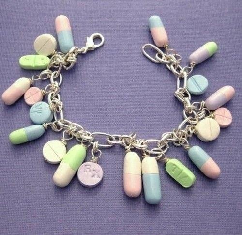 the pills worked better as adornments