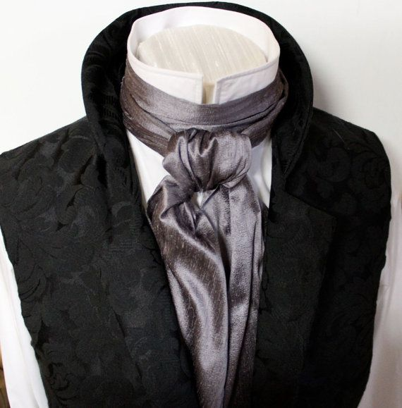 Long REGENCY Brummel Victorian Ascot Tie Cravat  by elegantascot, $39.00
