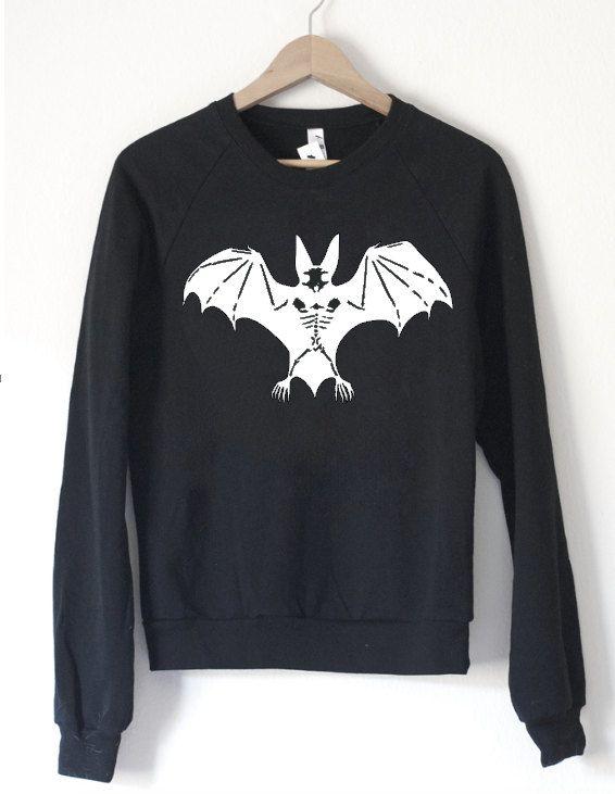 Bat Skeleton Sweatshirt - by So Effing Cute - Halloween 6e2oK1cECp