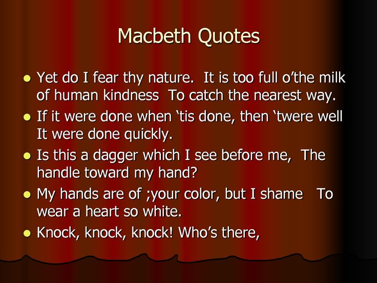 78 best Famous Macbeth Quotes on Pinterest | Macbeth ...