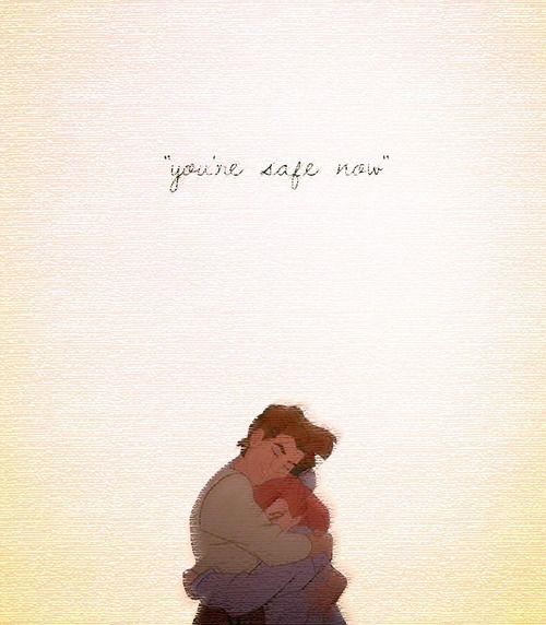 "Dimitri to Anastasia, ""You're safe now."" My favorite love story <3"