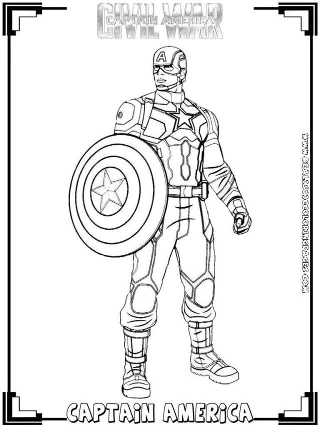 Creative Photo Of Civil War Coloring Pages Captain America